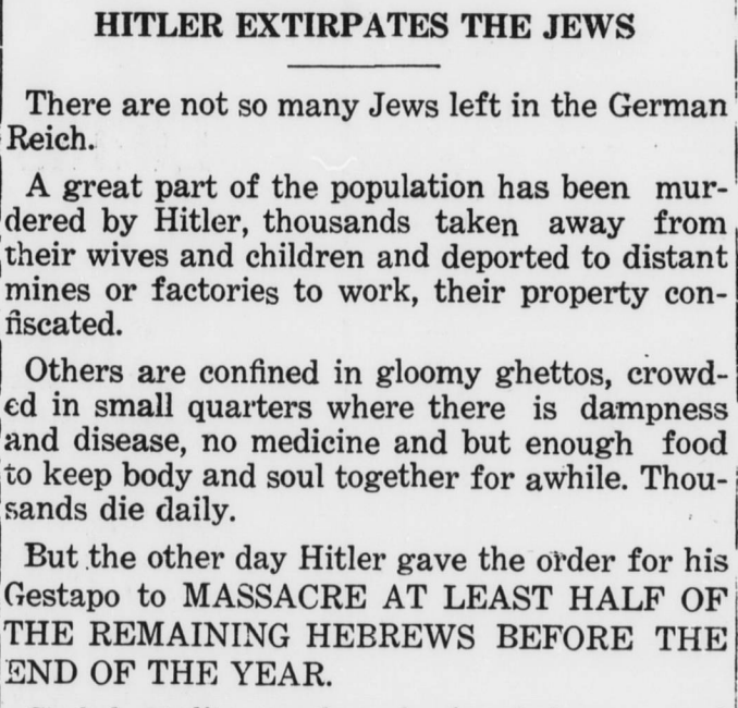the holocaust targeted the jewish community essay