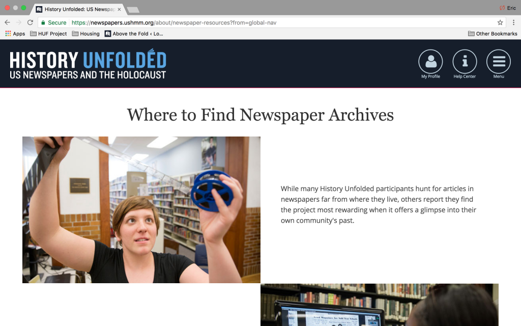 "1. Go to ""Menu"" and ""Find a Newspaper Archive"""