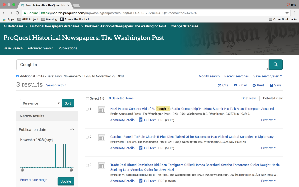"10. Look in Newspaper Collection for ""New"" Articles; Upload ""New"" Articles to History Unfolded"