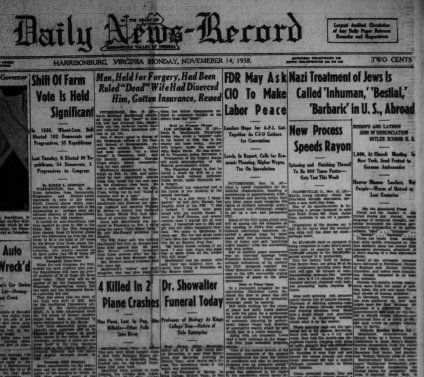 Daily News Record 1938.11.14