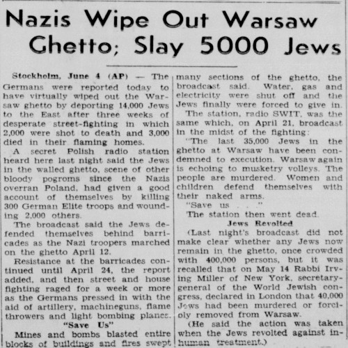 warsaw ghetto research paper In mid-november 1940 the jewish ghetto in warsaw was sealed  for research on the fate of jews under the  ss visited the warsaw ghetto on 9.